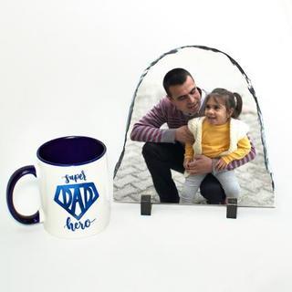 Super Dad Hero Mug with stone
