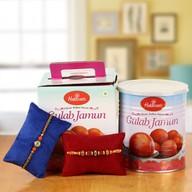 Rakhi Set with Gulaab Jamun