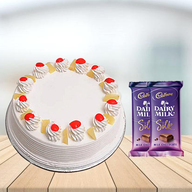 Pineapple Cake with Cadbury Silk Combo