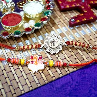 Shri and Ganesha Rakhi