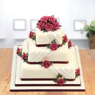 3 Tier Square Cake