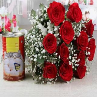 Roses with Rasgulla