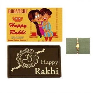 Happy Rakhi Chocolate with Pearl Rakhi