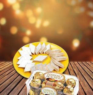 Kaju Burfi & Ferrero Rocher Chocolates