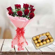 Red Roses & Ferrero Rocher