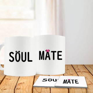 Soul Mate Mug and Coasters