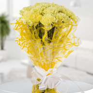 Bright Yellow Carnation Bouquet