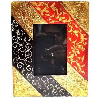 Wooden/Brass Photo Frame