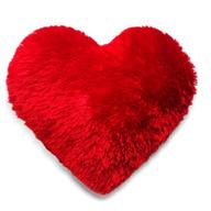 Fur Cushion (Heart Shaped)