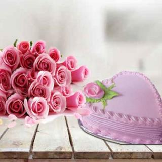 Send Lovely Pink Combo For Her Online In India At Indiagift