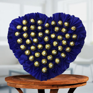 Valentine Heart Shape Ferrero Rocher Arrangement