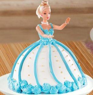 Barbie Doll Fondant Cake