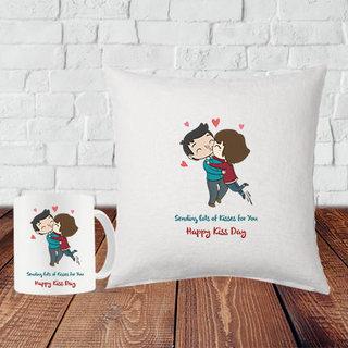 Kiss Day Cushion and Mug