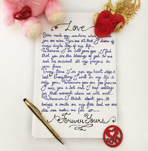 HandWritten Love Letter Free Shipping