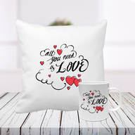 All You Need Is Love Cushion and Mug