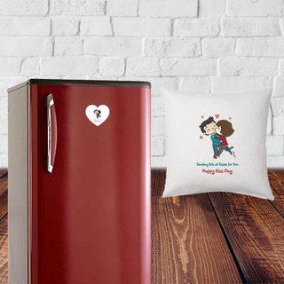 Kiss Day Cushion and Fridge Magnet