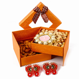 Dryfruit Hamper with Diya