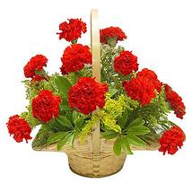 Red Carnation Basket