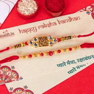 Beautiful Rakhi Mouli Set