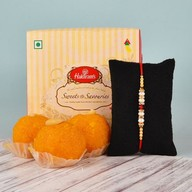 Rakhi with Motichoor Laddoo