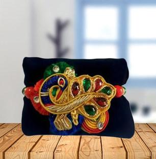 Beautiful Peacock Motif Rakhi