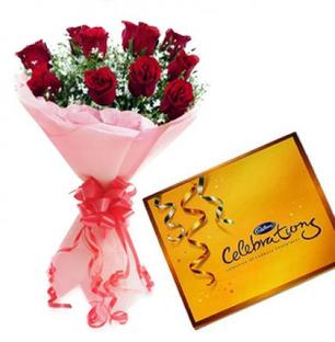 Valentine Roses with Chocolate