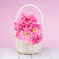 Pink Gerbera Basket