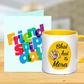 Friendship Day Card and Mug