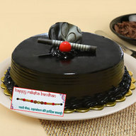 Ultimate Chocolate Truffle Cake with Rakhi