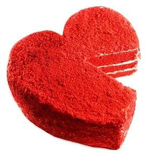 Valentine Red Velvet Heart Cake