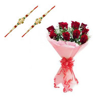 Rakhi with Red Roses