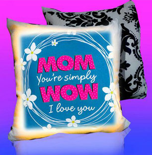 Mothers Day LED Cushion WOW MOM