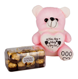 Valentine Teddy and Chocolate