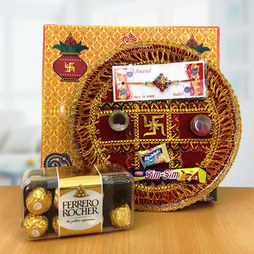 Rakhi Thali with Chocolate