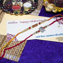 Special OM Mouli Rakhi Set