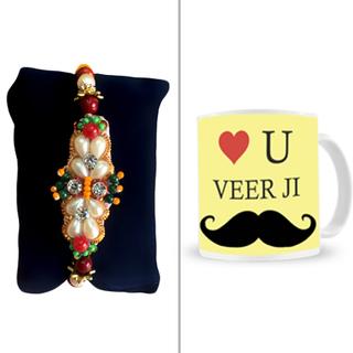 Fancy Rakhi with Veerji Mug