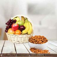 Fresh Fruits Basket with Almonds