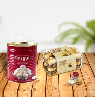 Dussehra Sweets and Ferrero Tikka Combo