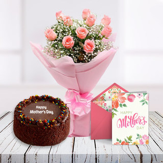 Mothers Day Adorable Combo and Card