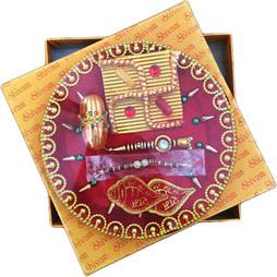 Premium Rakhi Thali with Rakhi