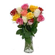 Valentine Mixed Roses Vase