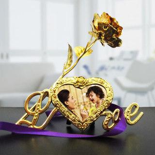 Golden Love Photo Frame