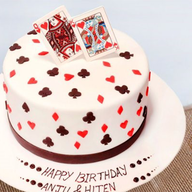 King Queen Fondant Cake