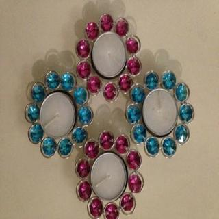 Diwali Metallic Tea Light Holders