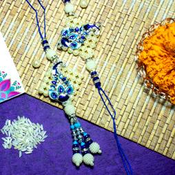 Handcrafted Rakhi & Lumba Set