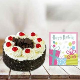 Cake and Greeting Card