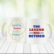 Retirement Mugs Set