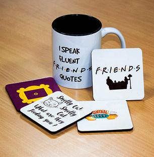 F.R.I.E.N.D.S Mugs and Coasters Combo