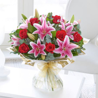 Lily and Roses Bouquet