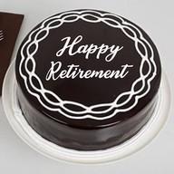 Retirement Chocolate Cream Cake